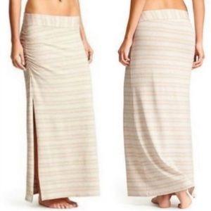 Athleta striped Serafina maxi skirt